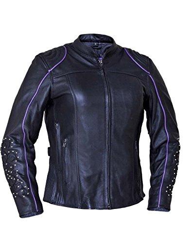 Unik International Ladies Premium Motorcycle Jacket with Angel Wing Design Large from Unik International