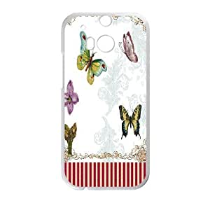 Beautiful Butterfly Image On Back Phone Case For HTC One M8