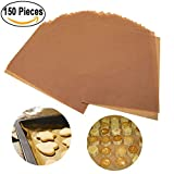 150 Pack Parchment Paper Cookie Baking Sheets for High Temperature Baking Non-Stick Brown Unbleached, 12 x 16 Inches