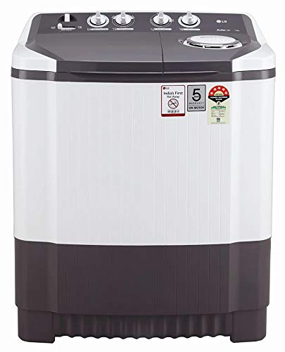 LG 8.0 kg 5 Star Semi Automatic Top Loading Washing Machine  P8030SGAZ, Dark Grey