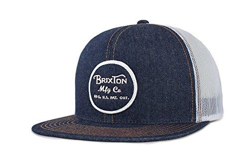Hat Skate Cap (Brixton Men's Wheeler Medium Profile Adjustable Mesh Hat, denim, One Size)
