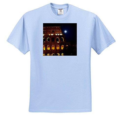 3dRose Danita Delimont - Italy - Colosseum Large Moon Details, Rome, Italy Built by Vespacian - T-Shirts - Light Blue Infant Lap-Shoulder Tee (18M) (Rome Five Light)