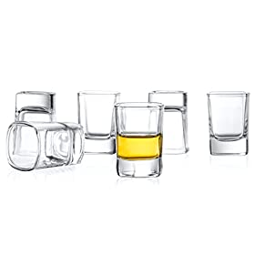 JoyJolt 6-Pack Heavy Base Shot Glass Set, 2-Ounce ...
