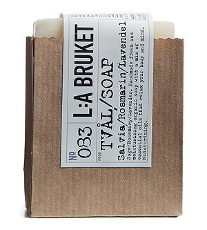 No. 083 Sage/Rosemary/Lavender Bar Soap 120 g by L:A Bruket