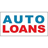 Auto Loans Blue Red Auto Car Repair Shop DECAL STICKER Retail Store Sign