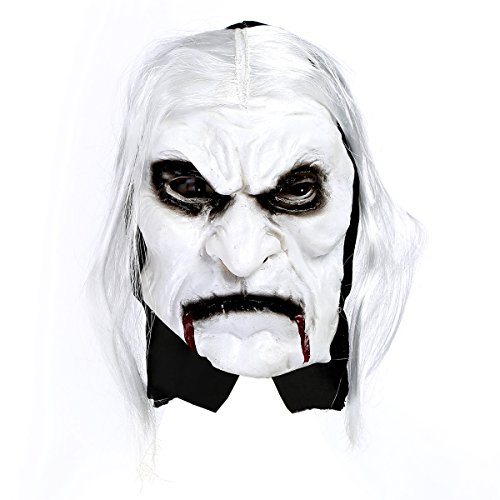 Scariest Masks (Cosplay Masks Halloween Costume Masks Party Cool Ghost Mask Halloween Costume Latex Head Mask Scary Zombie with Blood and Hair)