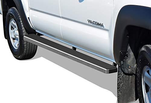 (APS iBoard (304 Stainless Steel Polished Silver 5 inches) Running Boards | Nerf Bars | Side Steps | Step Rails Compatible with 2005-2019 Toyota Tacoma Double/Crew Cab Pickup 4-Door)