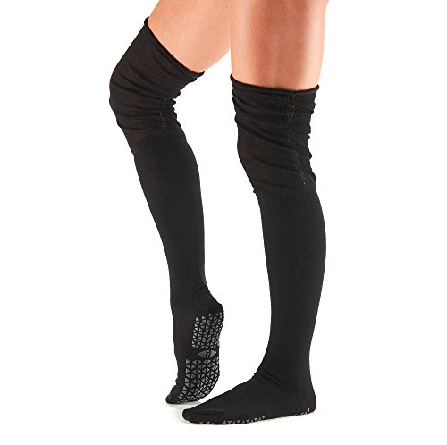 Tavi Noir Charlie Fashion Over the Knee High Grip Socks (Ebony) Medium