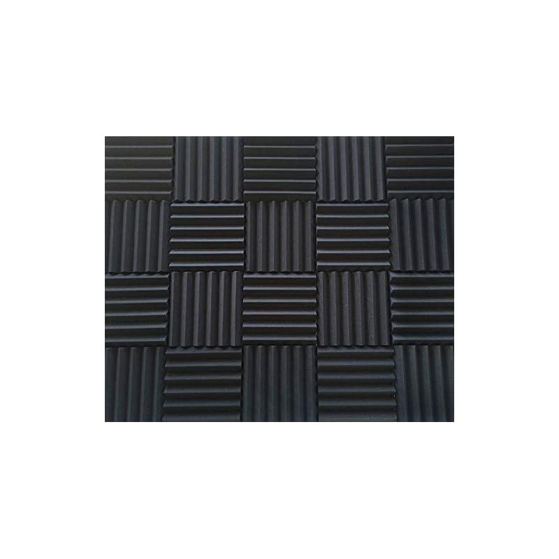 "Soundproofing Acoustic Studio Foam - Wedge Style Panels 12""x12""x2"" Tiles - 4 Pack - DIY"