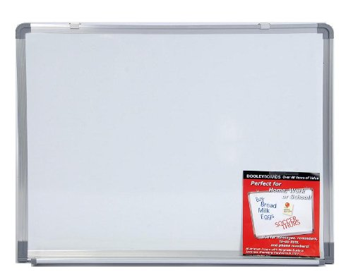 Dooley Boards Aluminum Framed Dry Erase Board, 18 x 24 (Aluminum Framed Markerboard)