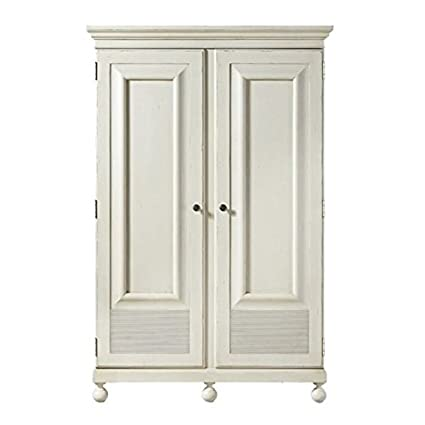 Beaumont Lane Wardrobe Armoire in Summer White