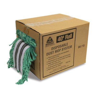 O'Cedar Commercial 96138 Disposable Dust Mop System, 40' Velcro, Green
