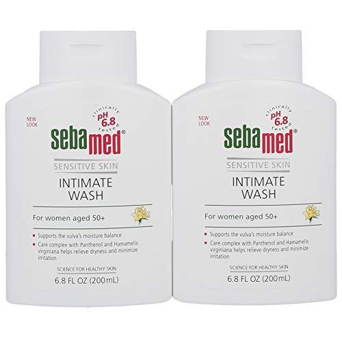 Sebamed Feminine Intimate Wash Menopause pH 6.8 for Women Aged 50 and Above (50+) 6.8 Fluid Ounces (200mL) Pack of 2