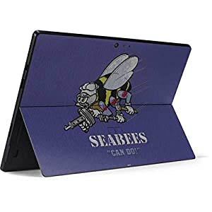 Skinit Seabees Can Do Surface Pro 6 Skin - Officially Licensed US Navy Tablet Decal - Ultra Thin, Lightweight Vinyl Decal Protection by Skinit