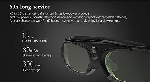 XGIMI DLP-Link Obturador de Cristal l/íquido Gafas 3D Recargables para proyector XGIMI y Otro proyector DLP 3D TV