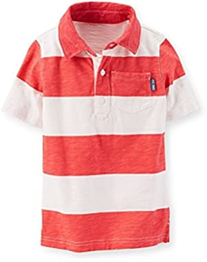 Carter Boy's Slub Jersey Striped Polo