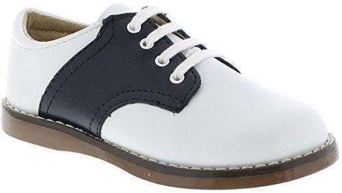 FootMates Unisex Cheer 3 (Infant/Toddler/Little Kid) White/Navy Oxford 3 Infant (Saddle Shoes Boys)