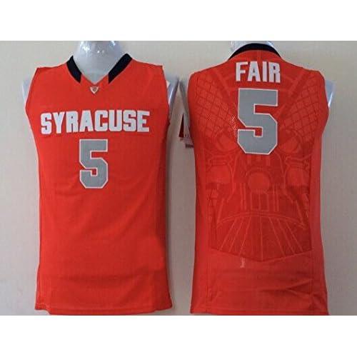 47d3bdb20 FORST Men's Syracuse Orange NO.5 FAIR Basketball Jersey NCAA Basketball  Jersey for Men chic