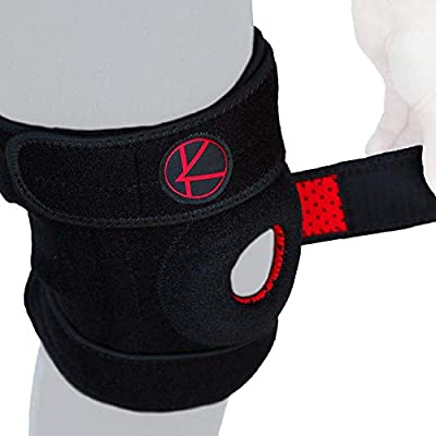 Adjustable Knee Brace Support for Arthritis, ACL, MCL, LCL, Sports Exercise, Meniscus Tear, Injury Recovery, Pain Relief – Open Patella Neoprene Stabilizer Wrap for Women, Men, Kids & Plus Size