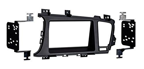 (Metra 95-7345B Double DIN Dash Fitment Kit for Kia Optima 2011-UP (Black))