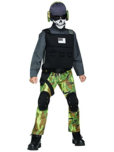 Fun World Big Boy's Lrg/Skull Soldier Chld Cstm Childrens Costume, Multi, -