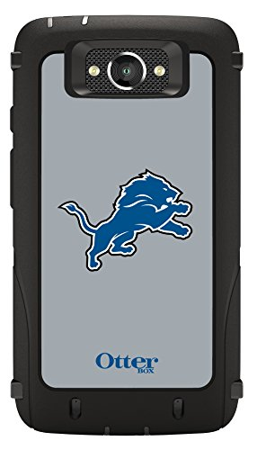 Otterbox Defender Case For Droid Turbo   Retail Packaging   Nfl Lions  Black With Detroit Lions Nfl Graphic