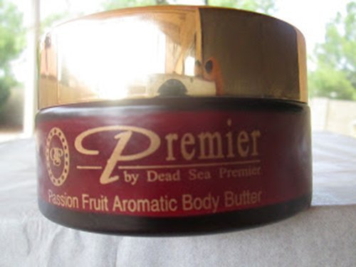 Premier Dead Sea Body Butter, Red, Passion Fruit, 5.95-Fluid Ounce, 175 Ml -