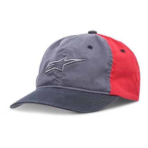 3d Logo Hat - Alpinestars Men's Curved Bill Structured Crown Flex Back 3D Embroidered Logo Flexfit Hat, Unfounded Charcoal, L/XL