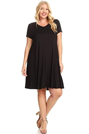 82bd6ea5665 Pastel by Vivienne Women s Short Sleeve Trapeze Tunic Dress X-Large Black