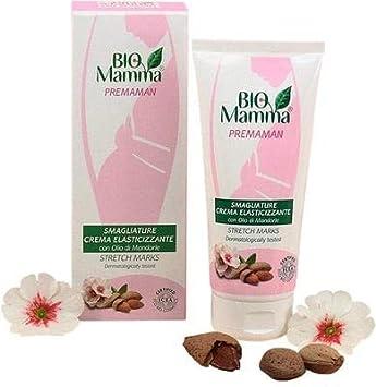 PILOGEN - Bio Mamma - Crema elastizante Anti Estrías - con aceite de almendras - Perfume