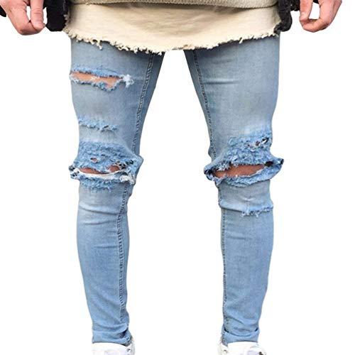 Jeans Da Uomo Lavati Con Stropicciatura Color Ruggine Decorazione Chiusura Dritta Classiche Pantaloni In Denim Casual Fori Strappati A Matita Stretch Ragazzi 1849