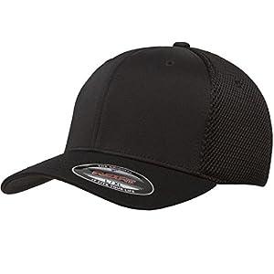 Flexfit Men's Ultrafibre Airmesh Fitted Cap   Stretch Fit Ballcap w/Hat Liner