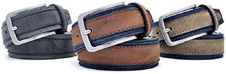 FidgetFidget Men Casual Belts Fashion Patchwork Designers Luxury Trends Trousers Waist Strap BrownNavy 120cm 40to43 Inch