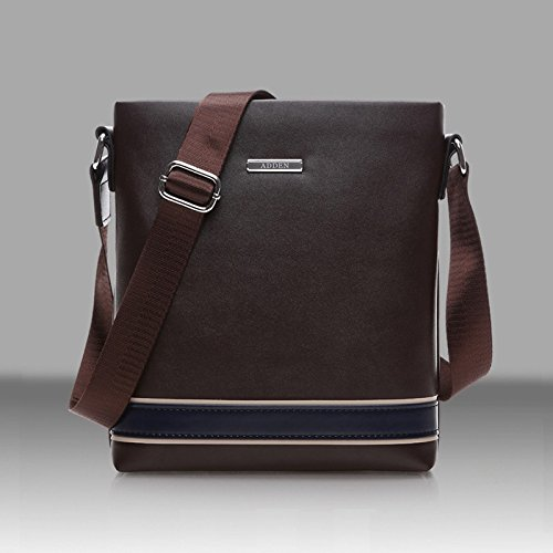 [Leather Shoulder Messenger Bag Casual Travel Handbag Briefcase Crossbody Bag] (Allen Edmonds Classic Belt)