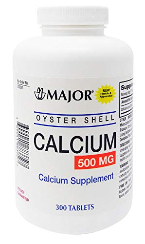 Major, Oyster Shell Calcium 500mg 300 tablets