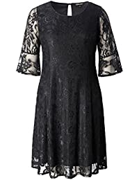 Womens Plus Size Stretch Quality Lace Skater Dress - Work and Casual Dress