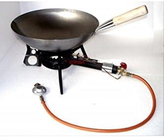 Kit hornillo 9.5 kW con sartén Wok 42 cm: Amazon.es: Hogar