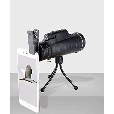 WJ Télescope de Caméra de Téléphone Portable 40x60 Télescope Monoculaire à Double Rangée Haute Puissance Vue de Télescope en Plein Air