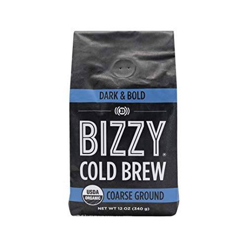 Bizzy Organic Cold Brew Coffee - Dark & Bold Blend - Coarse Ground Coffee - 12 oz