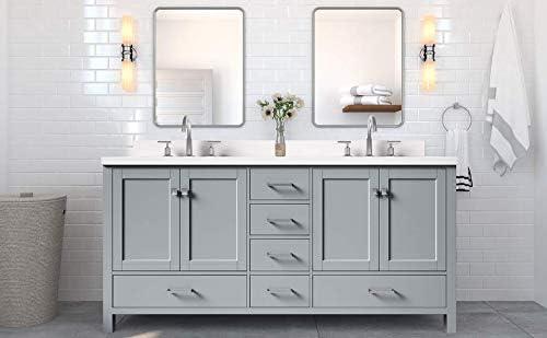 DKB Beckford Series 73″ Inch Double Sink Vanity In Grey
