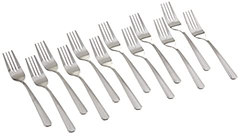Winco 0001-06 12-Piece Dominion Salad Fork Set,