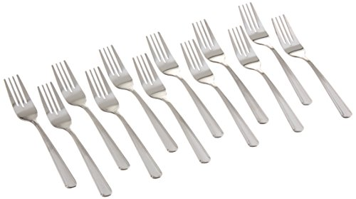 (Winco 0001-06 12-Piece Dominion Salad Fork Set, 18-0 Stainless Steel)