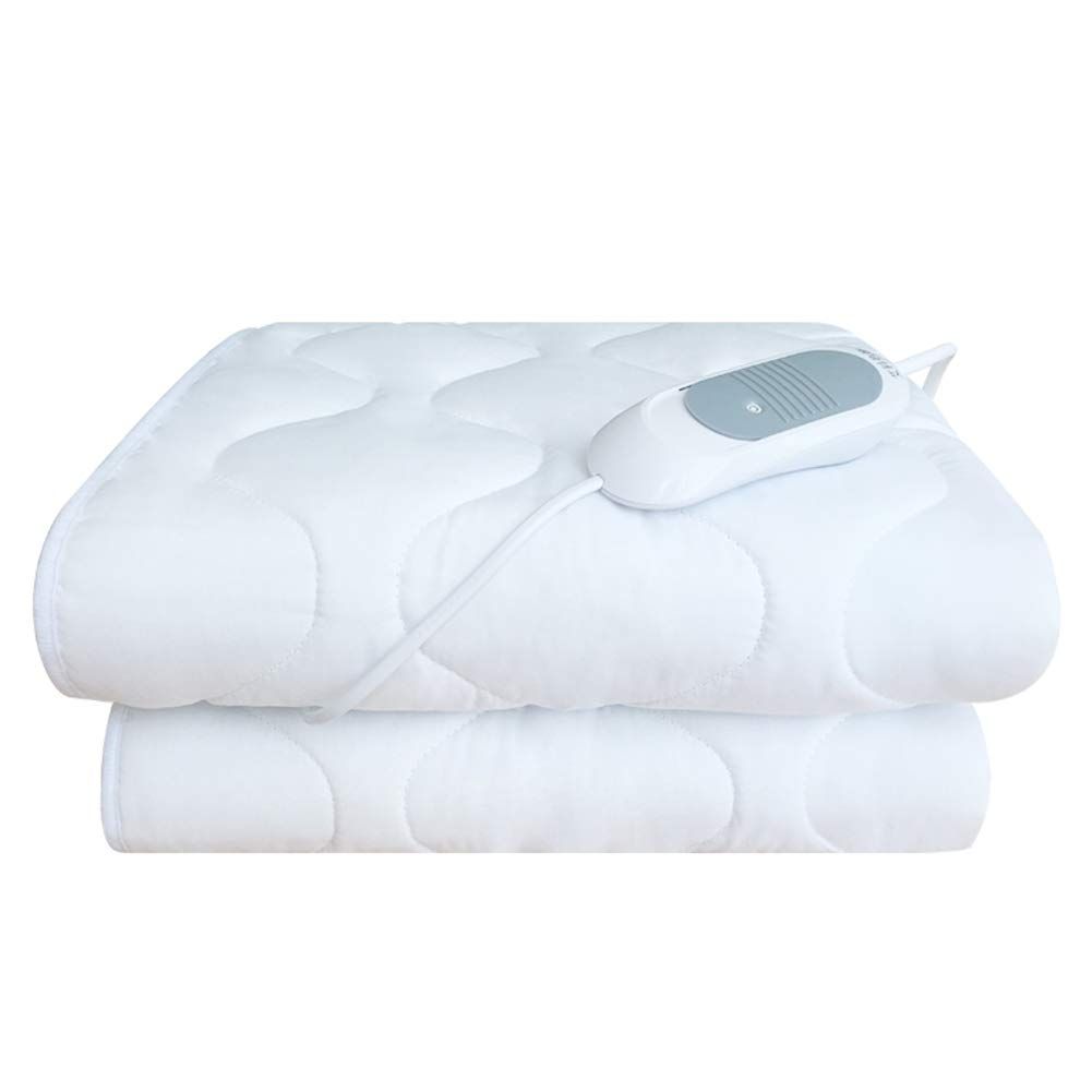 GX&XD Quilted Heated Blanket, Warming Mattress Pad Temperature Adjustment Electric Throw for Student Dormitory Bed Beauty Salon Safety Ultra Soft Throw-White 65x150cm(26x59inch)