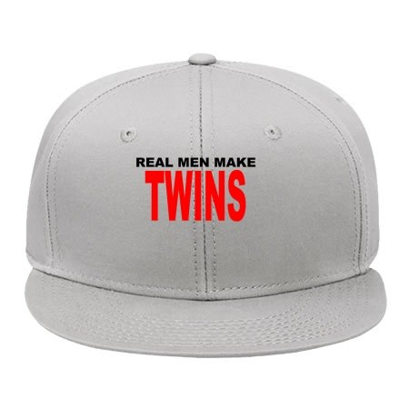 New Fashion Real_men_make_twins_t_shirts_k Hip Hop Cap Snapback Hat Male/female Cotton