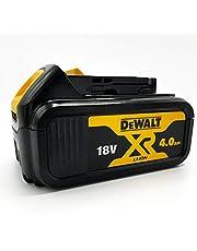 DeWalt Reserveaccu 18,0 volt/4,0 Ah XR Li-Ion (compatibel met alle 18,0 volt XR accumachines van DeWalt, led-accu-indicator), DCB182