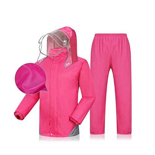 Rose rouge XXXL WSWJJXB Un imperméable imperméable portatif imperméable et réutilisable pour Le Cyclisme en Plein air, Le Camping, l'équitation
