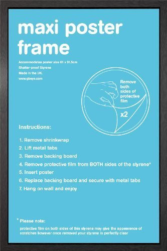 amazon com 9 x black maxi poster frame 61cm x 91 5cm by gb