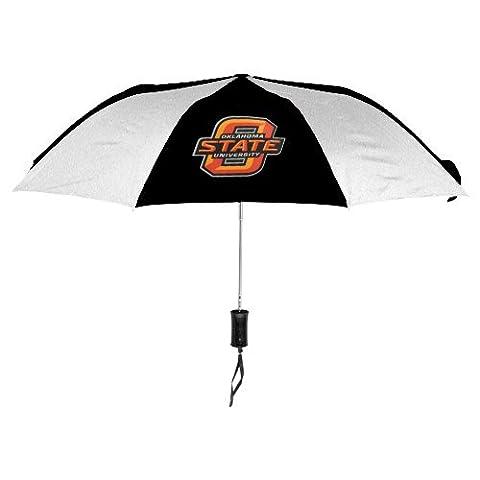NCAA Oklahoma State University Auto Folding Umbrella, Black - Team Golf Golf Umbrella