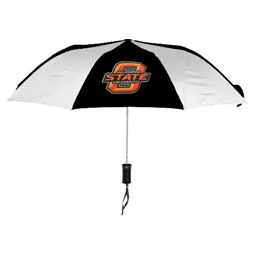 NCAA Oklahoma State University Auto Folding Umbrella, Black