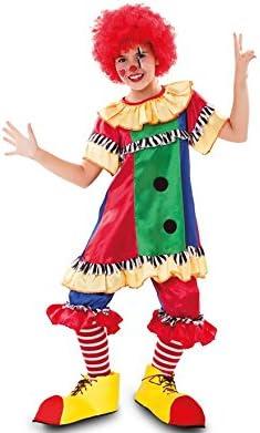 Fyasa 706352-t00 payaso disfraz de niña, pequeñas: Amazon.es ...